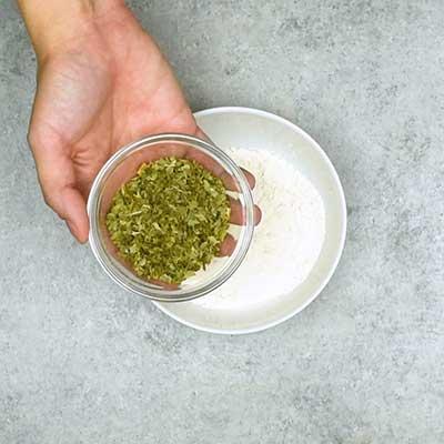 Homemade Ranch Seasoning Step 1 - Add dried parsley.