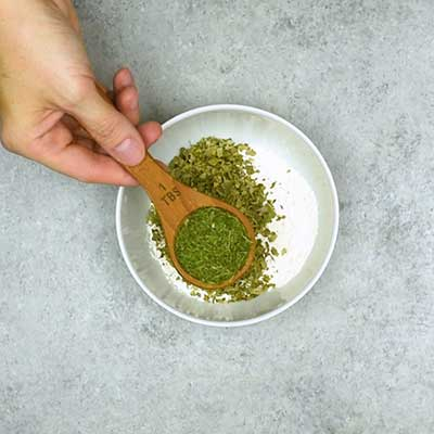 Homemade Ranch Seasoning Step 1 - Add dried dill weed.