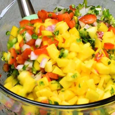 Mango Salsa Step 2 - Stir well.