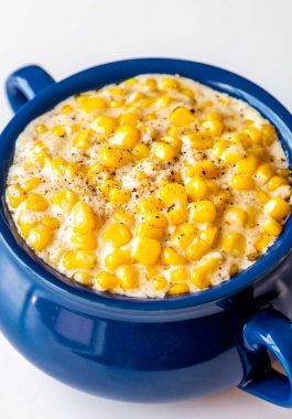 Simple recipe for making cream corn in the slow cooker.