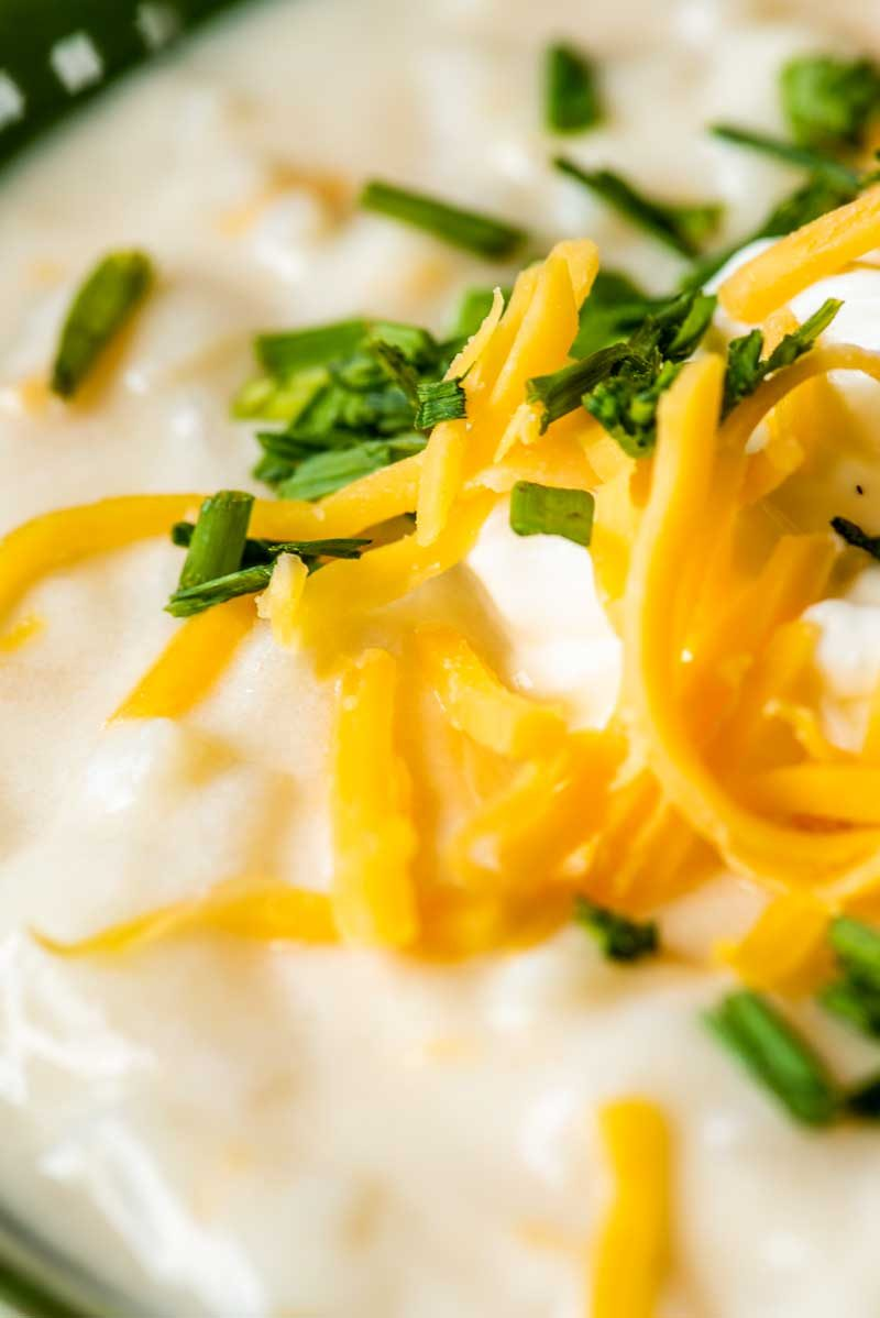 How to make creamy potato soup in a crock pot.