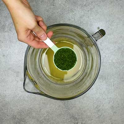 Cucumber Salad Step 1 - Add fresh dill.