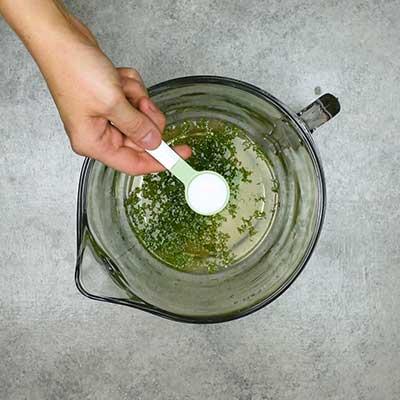 Cucumber Salad Step 1 - Add salt.