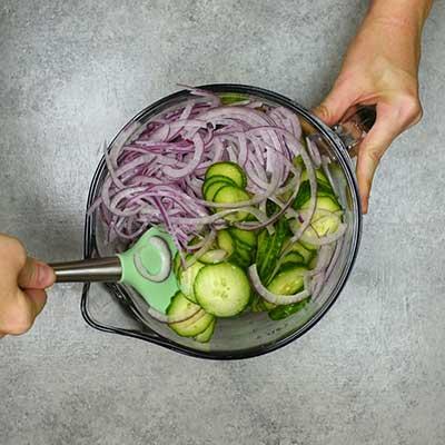 Cucumber Salad Step 2 - Stir well.