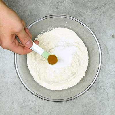 Strawberry Cream Cheese Bread Step 1 - Add cinnamon.