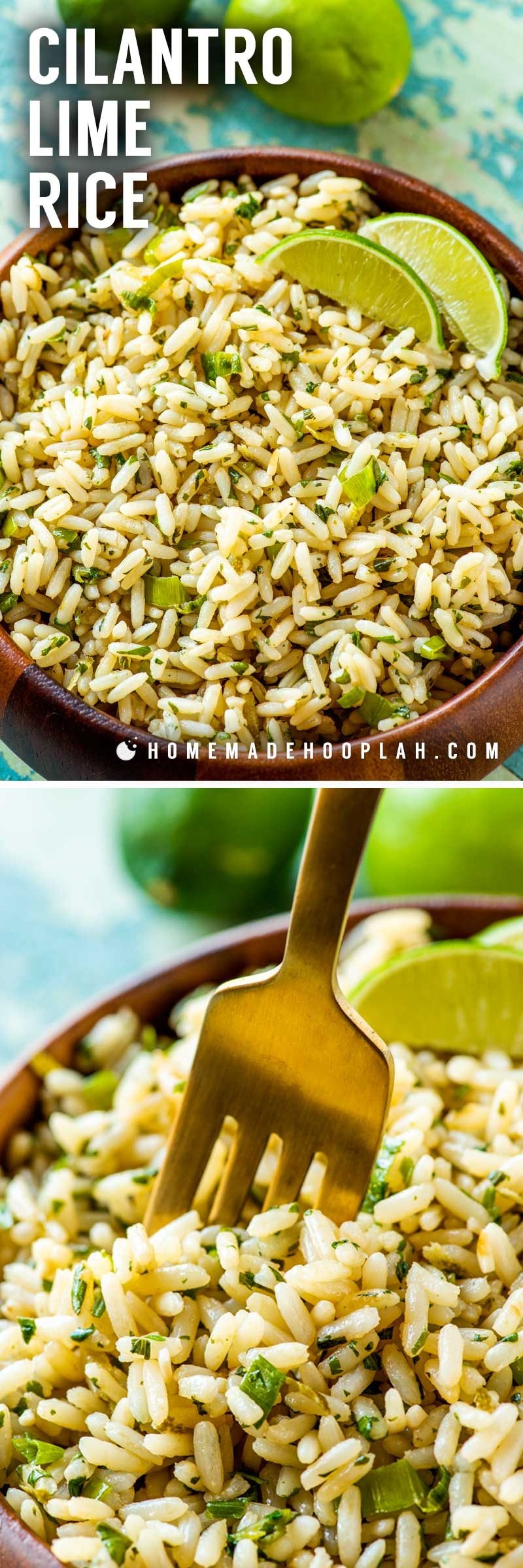 An easy cilantro lime rice recipe.