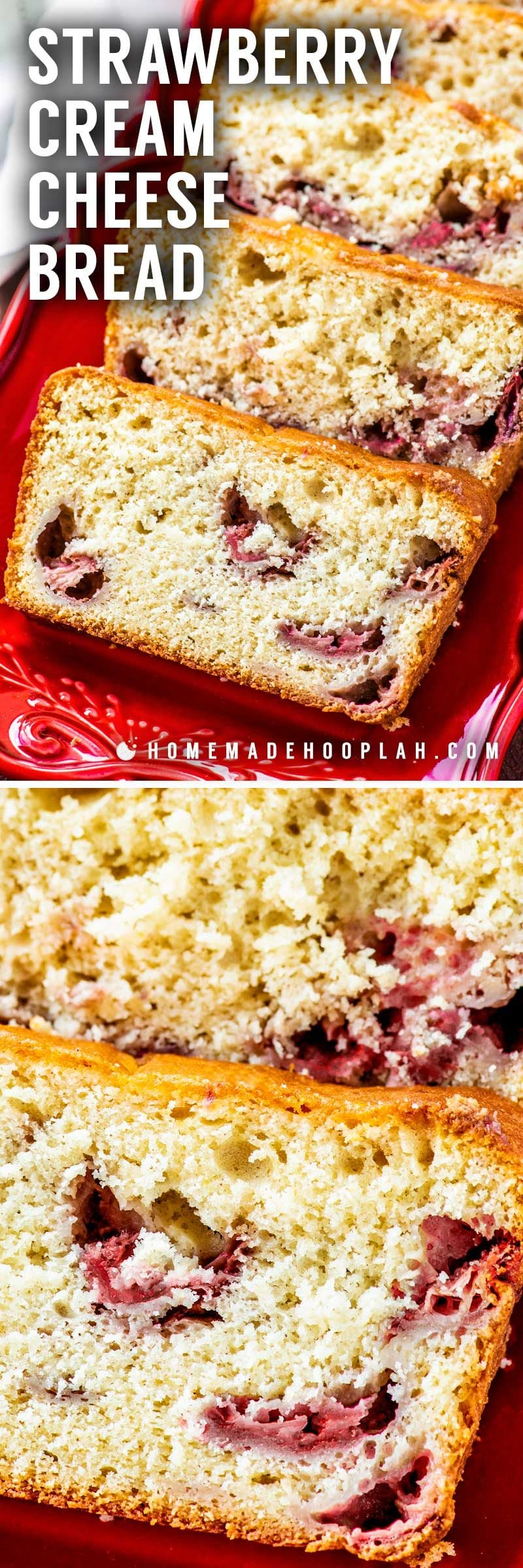 How to make strawberry cream cheese bread at home.