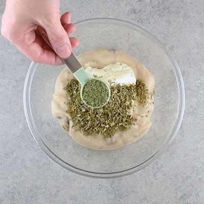 Crock Pot Ranch Pork Chops Step 1 - Add dried dill weed.