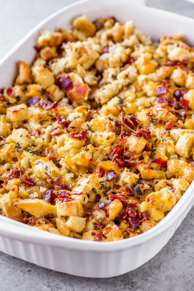 Easy Thanksgiving stuffing recipe with bacon and beer