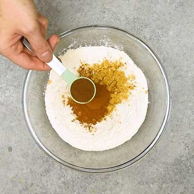 Gingerbread Loaf Step 1 - Add cinnamon.
