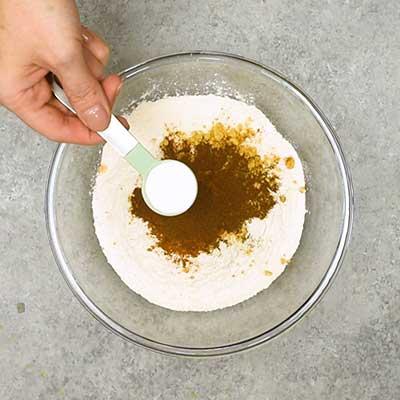 Gingerbread Loaf Step 1 - Add baking powder.