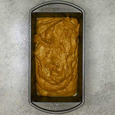Gingerbread Loaf Step 5 - Pour batter into loaf pan.