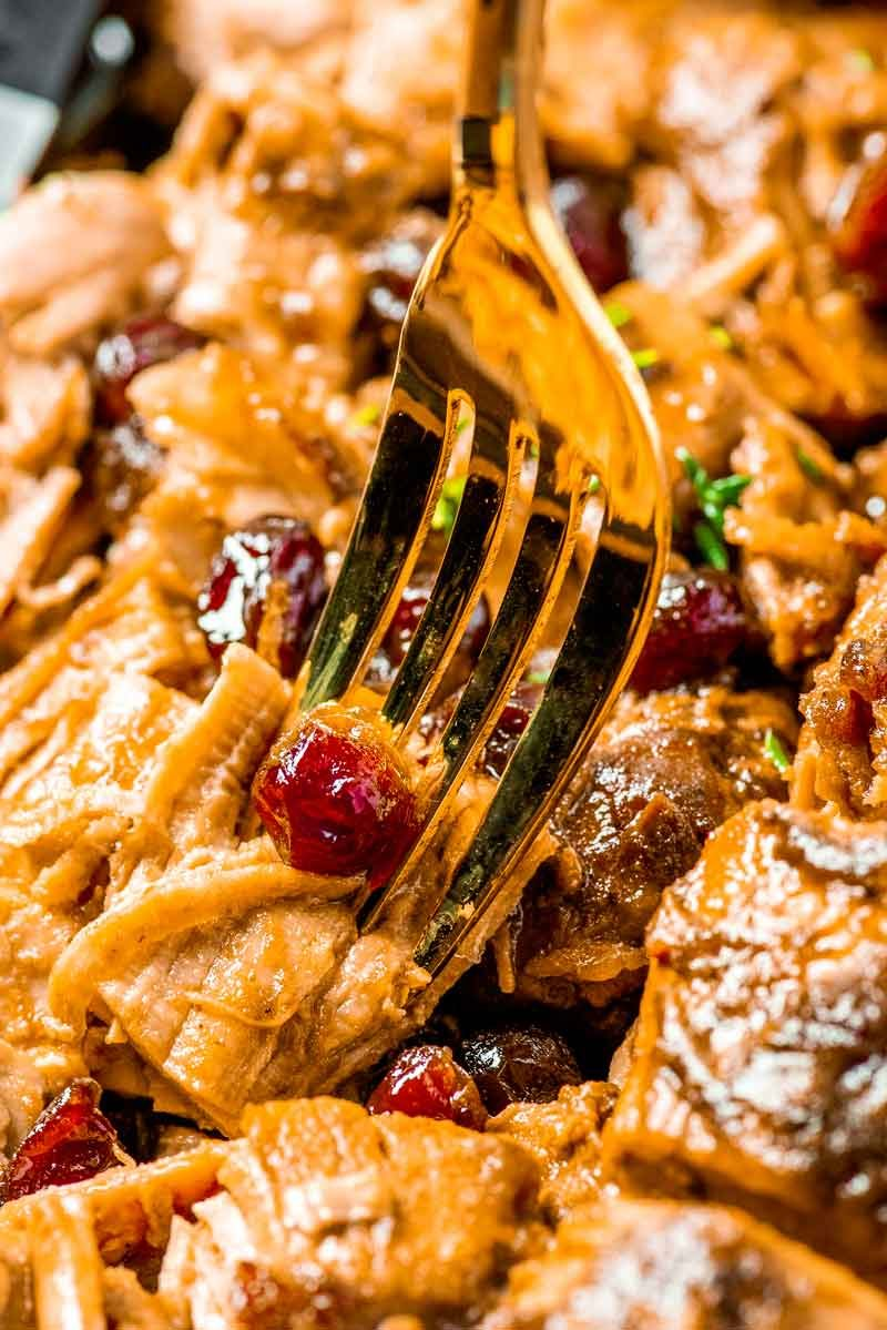 Pork loin with cranberry sauce recipe.