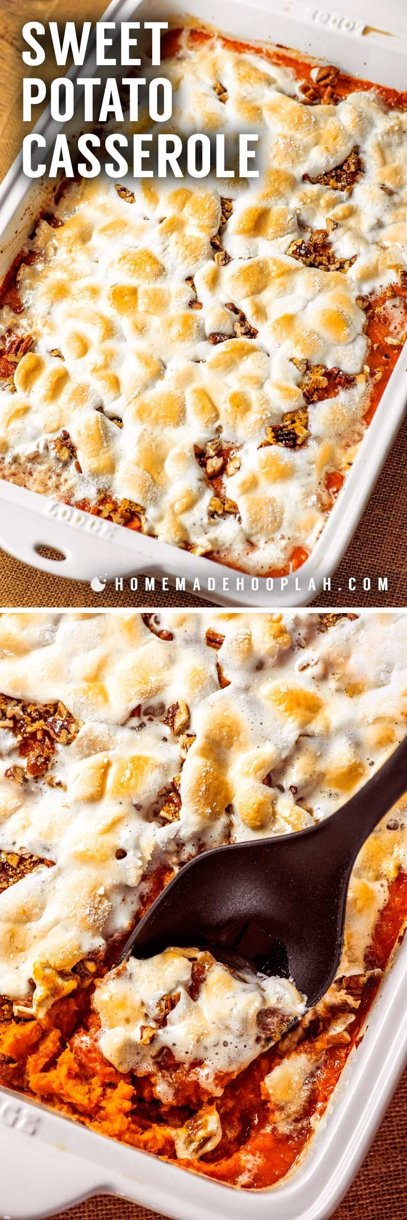 How to make sweet potato casserole with marshmallows.