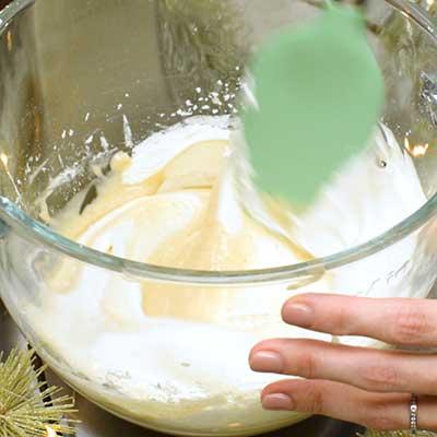 Eggnog Dip Step 4 - Gently fold together.