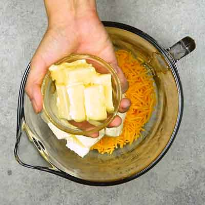 Easy Smoky Cheese Ball Step 1 - Add butter.