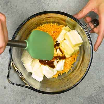 Easy Smoky Cheese Ball Step 1 - Mix well.