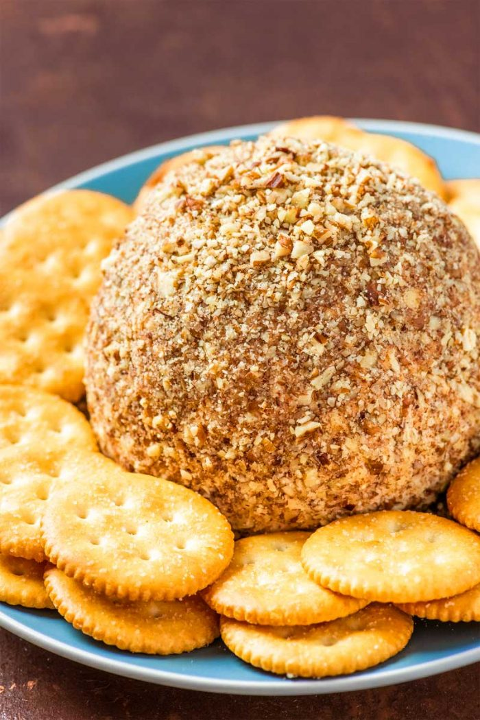 Easy Smoky Cheese Ball! This super easy cheese ball keeps it simple with the basics and a slightly smoky taste. Great for serving as-is or using it as a base for your own creation!   HomemadeHooplah.com