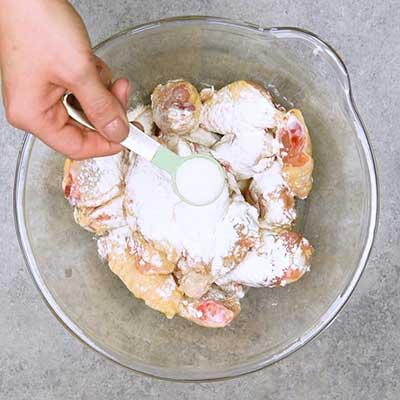 Buffalo Chicken Wings Step 1 - Add sea salt.