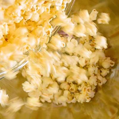 Bunny Bait Step 2 - Add popcorn.