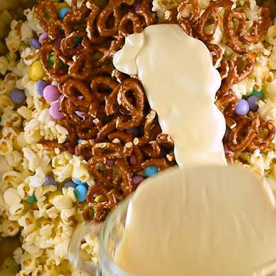Bunny Bait Step 2 - Add white candy melts.