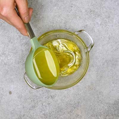 Cowboy Caviar Step 1 - Add olive oil.