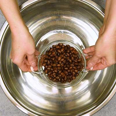 Cowboy Caviar Step 2 - Add black beans.