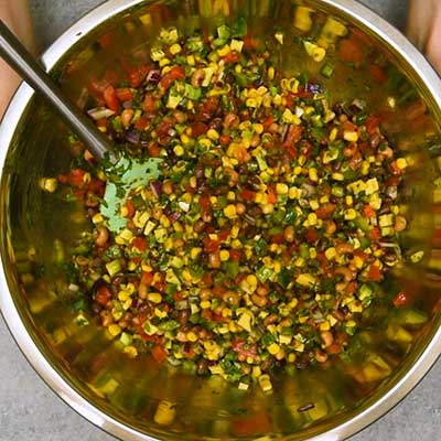 Cowboy Caviar Step 3 - Toss to mix.