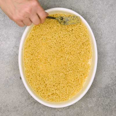 Jalapeno Popper Dip Step 5 - Spread panko into an even layer.