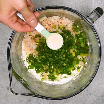 Shrimp Dip Step 2 - Add garlic powder.