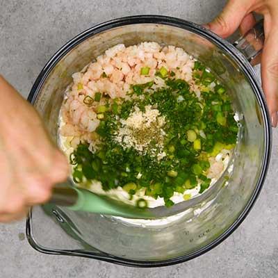 Shrimp Dip Step 2 - Mix well.