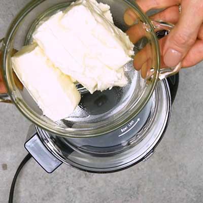 Smoked Salmon Dip Step 1 - Add cream cheese.