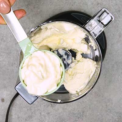 Smoked Salmon Dip Step 1 - Add sour cream.
