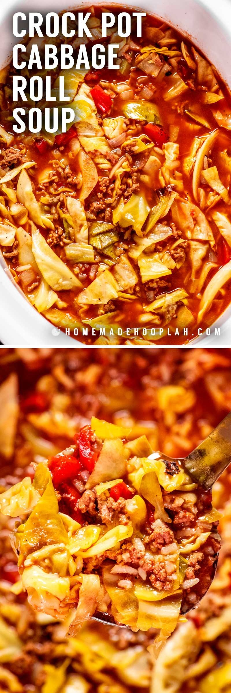 How to make cabbage roll soup in a slow cooker.