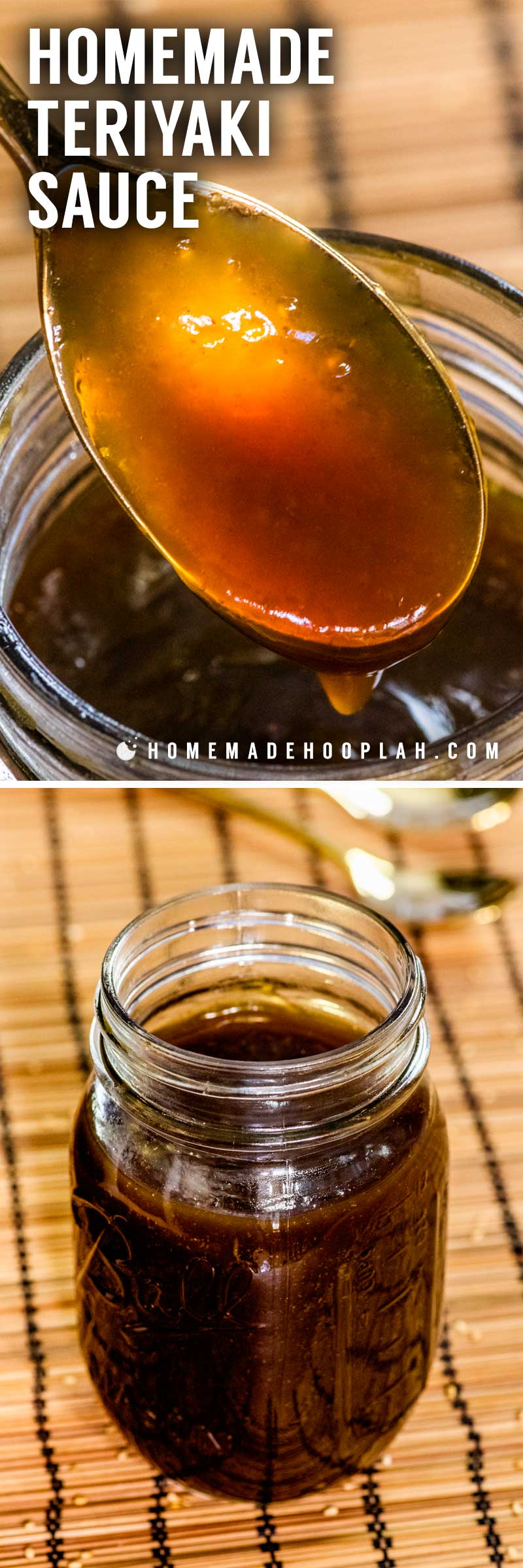 Homemade Teriyaki Sauce! Whether you love Asian-style dishes or just need a tasty sauce for dipping, this homemade teriyaki sauce is fast to make and easy to adjust to your tastes.   HomemadeHooplah.com