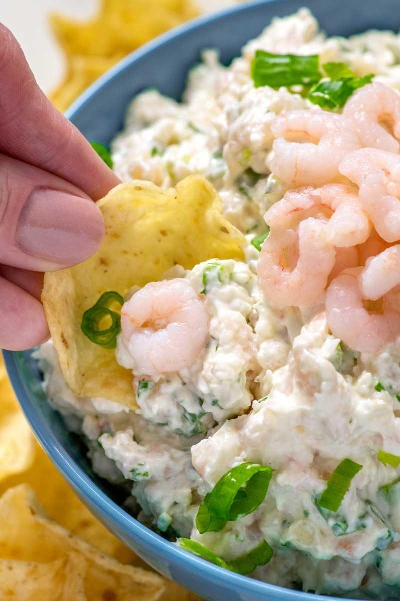 Easy shrimp dip with cream cheese recipe.