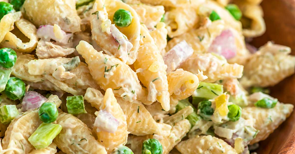 Tuna Pasta Salad Homemade Hooplah