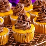 Chocolate Chip Pumpkin Cupcakes