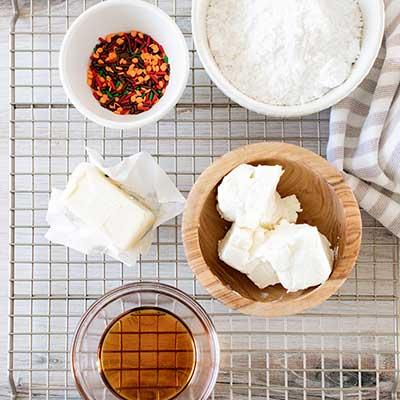 Maple Frosted Sugar Cookie Bars Step 2 - Arrange ingredients.