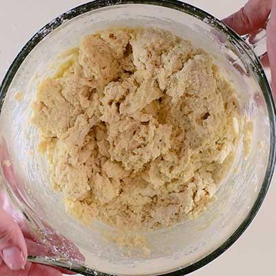 Traditional Irish Soda Bread Step 2 - Mix until combined.