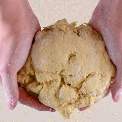 Traditional Irish Soda Bread Step 3 - Transfer soda bread dough to a floured work area.
