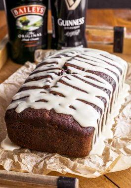 Easy guinness brown bread with Baileys glaze.