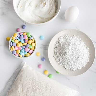 Cool Whip Cookies Step 1 - Arrange ingredients.