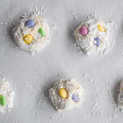 Cool Whip Cookies Step 3 - Place prepared cookie balls on a baking sheet.
