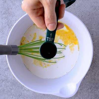 Creme Brulee French Toast Step 2 - Add vanilla.