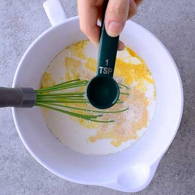 Creme Brulee French Toast Step 2 - Add orange liqueur.
