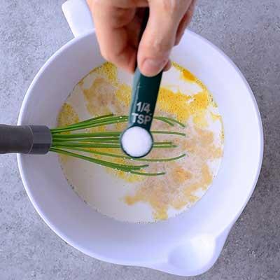 Creme Brulee French Toast Step 2 - Add salt.