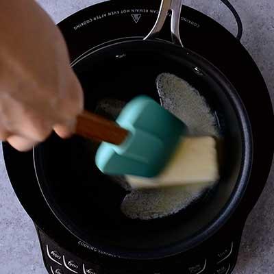 Creme Brulee French Toast Step 3 - Melt butter.