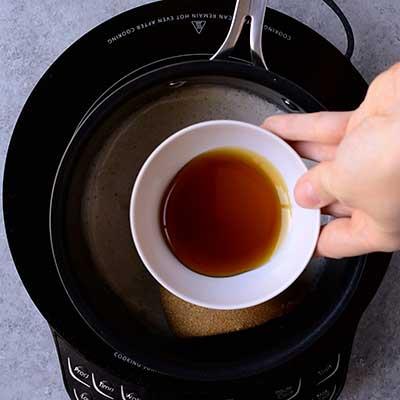 Creme Brulee French Toast Step 3 - Add dark corn syrup.