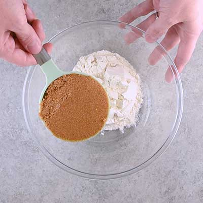 Coffee Creamer French Toast Casserole Step 3 - Add brown sugar.